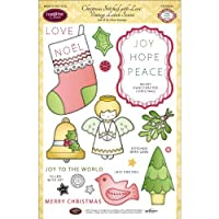 Justrite Clear Stamp Set 6-Inch x 8-Inch Christmas Stitched with Love【クリスマス】【オーナメント】 [並行輸入品]