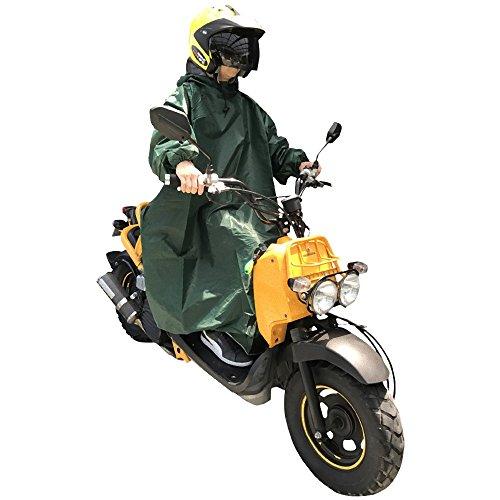 Nedved レインポンチョ 長袖付き 足元ロング丈 バイク...