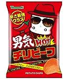 山芳製菓 ポテトチップス 男気HOTチリビーフ 90g×12袋