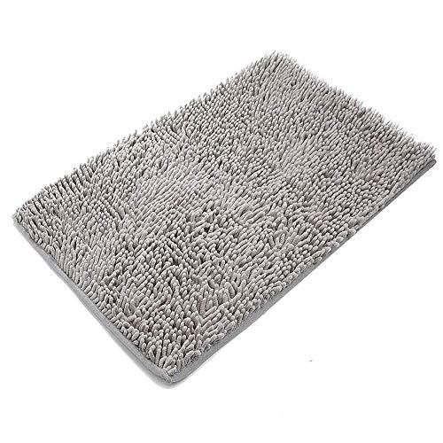 VASLON バスマット 足ふきマット 丸洗い 超厚い 超柔らかい 超吸水 滑り止め 速乾 抗菌 マイクロファイバー マット 浴室 玄関 (40×60cm )