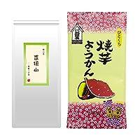 mita 香狭山 ~ 高級くき茶 ~ ( 100g ) + 焼いもようかん ( 一口ようかん )