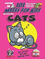 101 Mazes For Kids: SUPER KIDZ Book. Children - Ages 4-8 (US Edition). Sleepy Napping Cat Pink custom art interior. 101 Puzzles with solutions - Easy to Very Hard learning levels -Unique challenges and ultimate mazes book for fun activity time! (Superkidz - 101 Mazes for Kids)