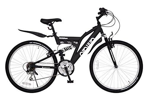ANIMATO(アニマート) フルサスペンション マウンテンバイク SANDPIPER (サンドパイパー) 26インチ アルミフレーム マットブラック シマノ18段変速 A-6