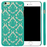 Iphone 6 Plus Case Top Selling (TM) [Damask]Design Pattern Rubber Coating Ultra Slim Fit Hard Hybrid Case Cover for Iphone + Bonus Top Selling Logo Stylus (iphone 6 plus [5.5inch] Teal) [並行輸入品]