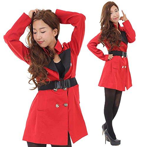 (Boa Sorte) バブリーギャル なりきり 平野ノラ コスプレ 衣装 えらべる2サイズ メンズ レディース フリーサイズ バブル 衣装 仮装 ダンス (女性フリーサイズ(155-168cm))