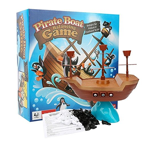 Pirateボートゲームペンギンバランシングおもちゃクリスマスギフトfor Party and Family