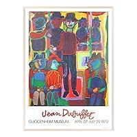 A.P.J. ポスター額装(現代アート) ジャン・デュビュッフェ グッケンハイム・エキジビション1973 A1621 グラーノフレームオフホワイト