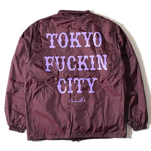 (アールディーズ)ALDIES TOKYO FUCKIN CITY Coach Jacket A3007028 M バーガンディー