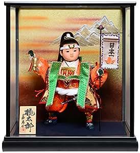 【人形の伏見屋】【武者人形】9号桃太郎 日本一:嘉房作【五月人形】【ご進物ケース】