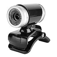Richer-R 内蔵マイクWebカメラ クリップオン360度HD 12メガピクセル USBコンピュータカメラ SkypeラップトップおよびデスクトップWindows 7/8/XP Webカメラと互換(黑色+银色)