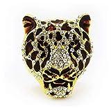 Bestbling Crystal Animal Shape Vent outlet Air Freshener-Car Perfume bottle Car Interior Decoration (Leopard Head) [並行輸入品]