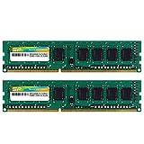 シリコンパワー デスクトップPC用メモリ  240Pin DIMM DDR3-1333 PC3-10600 8GB×2枚 永久保証 SP016GBLTU133N22