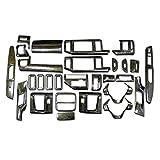 立体3Dパネル ステップワゴン RK1 2 5 6系 専用 3Dインテリアパネルセット 28P 【黒木目ゴールド 152】 ウッドパネル ホンダ FJ0317