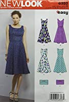 新しい外観の縫製パターン6393:ミスの簡単ドレスと財布、サイズA、A(A(8-10-12-14-16-18)