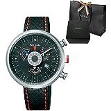 ポールスミス (Paul Smith) 腕時計 サイクルクロノグラフ ブラック メンズ ウォッチ 【ショップバッグ・専用ケース付 ギフトラッピング可】 Cycle Chronograph アナログ レザーベルト