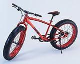 Fatso Bikes マウンテンバイク Fat Bike ビーチクルーザー自転車 Fatbike ファットバイク All Red 26インチ (Red)