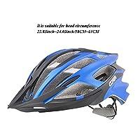 一体成型EPSヘルメット、 マウンテンバイク用自転車ヘルメット 25風孔 内蔵キール 防虫ネット アルミニウム盾技術 テールランプ 男女が通用する 道路ローラー装備 可調湿性