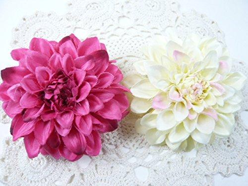 [해외]코사지 헤어 악세  일본식 달리아의 머리 장식 코사지 & 헤어 클립 2way (1 개) 크림/Corsage · hair access  Japanese style dahlia hair ornament Corsage & hair clip 2way (1 piece) cream