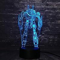 周囲光、 ロボットLEDナイトライト7色の変更ボーイ子供のおもちゃのUSBベースのLEDナイトライトクリスマスギフトタッチ (Color : Touch Remote)