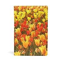 旅立の店 ブックカバー レザー 文庫カバー フリーサイズ 秋の花柄 金黄色 上品 おしゃれ 本好きなあなたに 学生 22x15cm