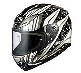 オージーケーカブト(OGK KABUTO)バイクヘルメット フルフェイス AEROBLADE3 ROVENTE (ロヴェンテ) ホワイトシルバー (サイズ:XL)