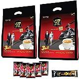 【ベトナム直輸入】TRUNG NGUYEN G7 3in1 ベトナムコーヒー 16g*50袋入り 2個(計100袋) & 濃厚 G7 X2 25g*1袋 アイスカフェオレ 飲み比べ セット