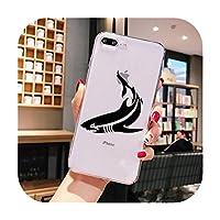 星明かりの落下シャチ印刷海洋動物ブラックTPU iPhone 11 Pro XS MAX XR 8 7 6 6SプラスX 5 5S SEのソフトラバー電話カバー-A11-For 6Plus 6SPlus