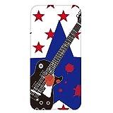 ホワイトナッツ FREETEL Priori3 LTE FTJ152A ケース クリア ハード プリント パターンC(cw-643) スリム 薄型 ミュージシャン ギター 音楽 WN-PR424050