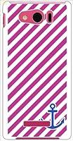 ohama SHL24 AQUOS PHONE SERIE mini アクオスフォン ハードケース ca1246-1 斜めボーダー ストライプ イカリ スマホ ケース スマートフォン カバー カスタム ジャケット au