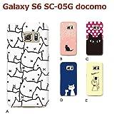 Galaxy S6 SC-05G (ねこ03) E [C007202_05] 猫 にゃんこ ネコ ねこ柄 ギャラクシー スマホ ケース docomo