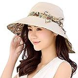 マイアモーレ シェードハット 取り外すあご紐 サイズ調節可 紫外線対策 魅力溢れる 女優帽 コットン100% リボン 日よけ帽子 手軽く収納 つば広 レディース アウトドア