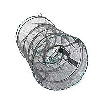 HNJZX 魚捕り 魚キラー 魚網 折り畳み式 網かご 魚網 漁具 エビ カニ 小魚捕獲 コンパクト収納 (B)