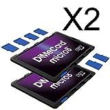 DiMeCard micro8 microSD メモリーカードホルダー― パープル エディション マルチパック, 2個セット (クレジットカード・サイズの超薄型ホルダー、記入可能なラベル)