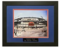 """Wrigley Field。"""" The Friendly Confines。」Professionallyマットanフレーム12x 18フォトto an 18x 24"""