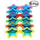 WINOMO メガネ サングラス おもちゃ 子供 スター型 衣装コスプレ キャンプ 縁日 パーティー フォトブースの小道具 6ピース