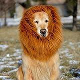 【YW】ライオン たてがみ 犬用コスチューム ライオンのたてがみの髪飾り (ブラウン)
