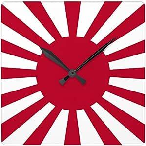 旭日旗の壁掛け時計:ピクチャークロック(世界の国旗・軍旗シリーズ) (A) [並行輸入品]