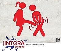 JINTORA ステッカー/カーステッカー - Women vs. man - 女性対男 - 100x100mm - JDM/Die cut - 車/ウィンドウ/ラップトップ/ウィンドウ- 赤