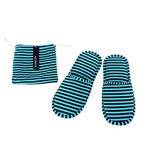 [해외]ASTARTE (아스타르테) 휴대 슬리퍼 축소 남녀 겸용 수납 파우치 세트/ASTARTE (astarte) portable slippers foldable unisex storage pouch set