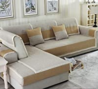 OWNFSKNL 綿のソファのクッションとリネンフォーシーズンズ共通家具ソファカバー (Color : イエロー, サイズ : 90*160CM)