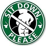 メイヴルアットホーム 座りション トイレステッカー 立たないでジョ~!! トイレ ステッカー 立ちション禁止 座って 座…