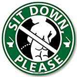 座りション トイレステッカー 立たないでジョ?!!(小便小僧/グリーン) トイレ ステッカー 立ちション禁止 座って 座る マナー シール 掃除 メイヴルアットホーム