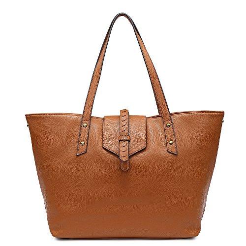 バッグ レディース 通勤バッグ レディース 大容量 婦人バッグ 人気 A4 手提げバッグ レディース (L, キャメル)