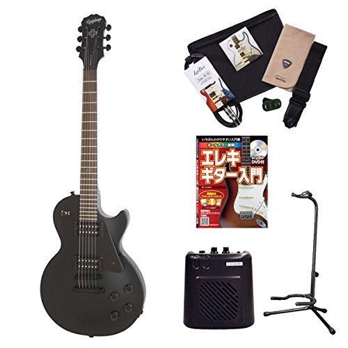 Epiphone GothLPStudio PBK レスポールスタジオ エレキギター 初心者セット ミニアンプ 入門セット (エピフォン) オンラインストア限定