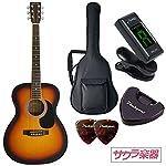 HONEY BEE ハニービー アコースティックギター フォークギタータイプ F-15M/TS マットフィニッシュモデル 初心者入門チューナーピックセット