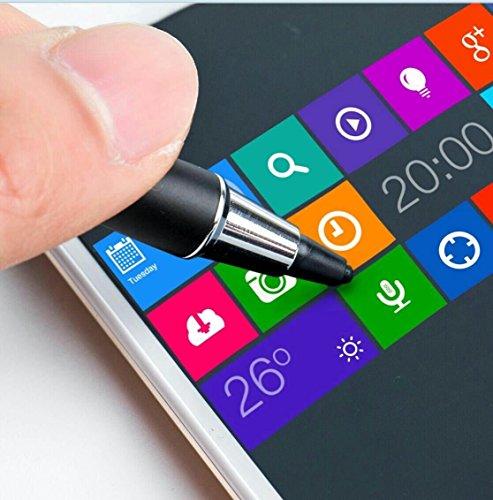 aibow 極細 タッチペン スマートフォン タブレット スタイラスペン iPad iPhone Android ペン先2mm (ブラック)