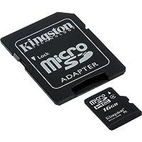 プロフェッショナル キングストンMicroSDHC 16GB (16ギガバイト) カード ソニー TX100V カメラフォン用 カスタムフォーマットと標準SDアダプター付き (SDHC Class 4認定)