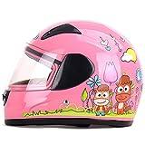バイクヘルメット ヘルメット フルフェイス 子供用 送料無料 シールド付き PSC付き フリーサイズ YEMA-203[ピンク/FR]