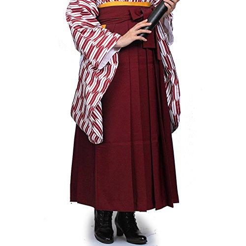 [オオキニ] 袴 無地袴 卒業式 女性 袴 二尺袖用 単品 (LL,【N4】エンジ)