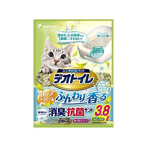 デオトイレ 1週間消臭・抗菌 ふんわり香る消臭・抗菌サンド ナチュラルグリーンの香り 3.8L